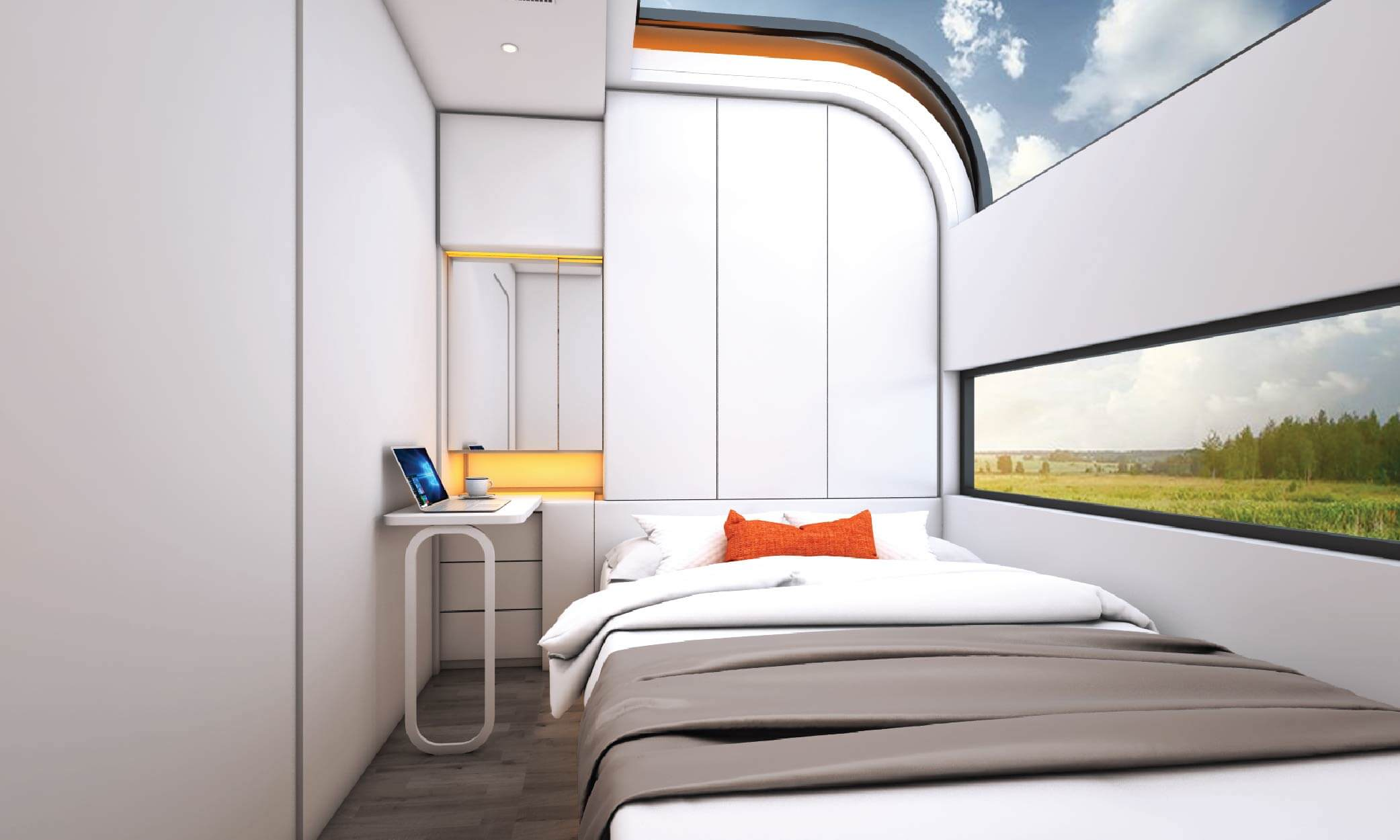 I mobili sono studiati per sfruttare al massimo lo spazio