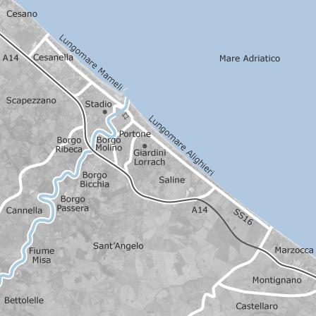 Cartina Italia Senigallia.Mappa Di Senigallia Ancona Comuni Con Annunci Di Case In Vendita Idealista