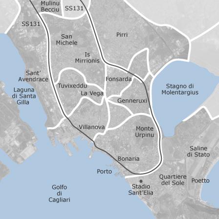 Cartina Geografica Di Cagliari.Mappa Di Cagliari Comuni Con Annunci Di Case In Vendita Idealista