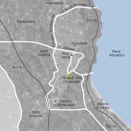 Mappa di vasto chieti comuni con annunci di case in for Case in vendita vasto