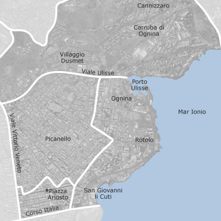 Mappa di ognina picanello catania comuni con annunci di for Case arredate in affitto a catania