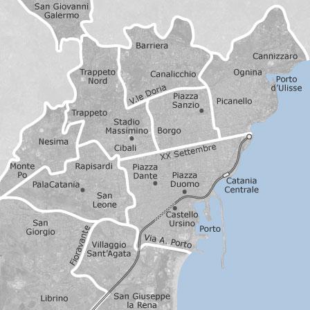 Mappa di catania comuni con annunci di locali o capannoni in vendita idealista - Agenzie immobiliari a catania ...
