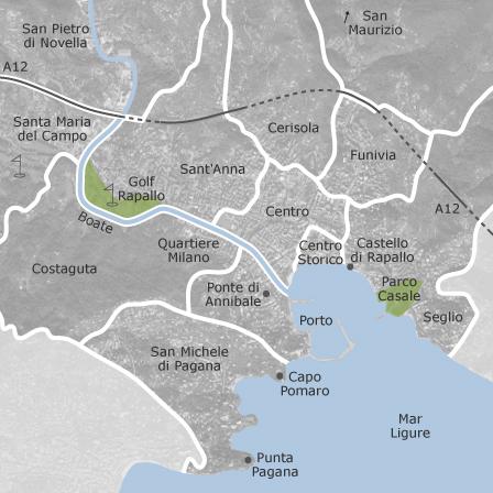Mappa di rapallo genova comuni con annunci di case in for Case in affitto a rapallo arredato