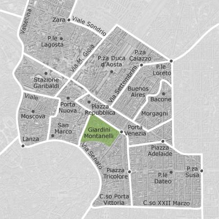 Mappa di garibaldi porta venezia milano comuni con - Milano porta garibaldi passante mappa ...