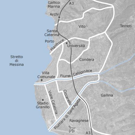Mappa di reggio calabria comuni con annunci di case in for Case in affitto reggio calabria arredate