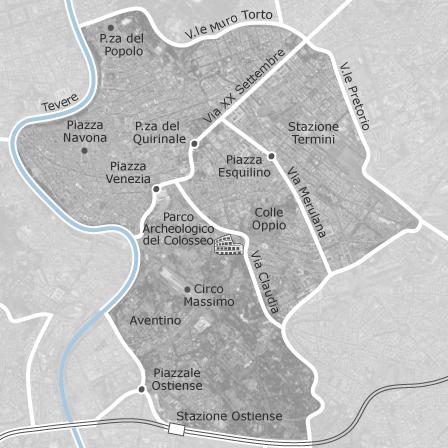 Mappa di centro roma comuni con annunci di stanze in for Annunci affitti roma