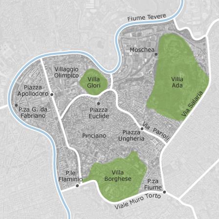 Mappa di parioli roma comuni con annunci di case in for Parioli affitto roma