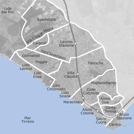 Mappa di anzio roma comuni con annunci di locali o for Annunci locali commerciali roma