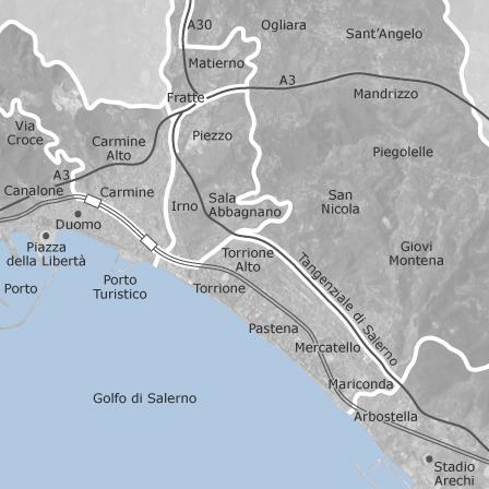 Cartina Italia Salerno.Mappa Di Salerno Comuni Con Annunci Di Case In Vendita Idealista