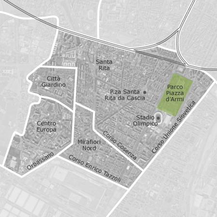 Mappa di santa rita lingotto mirafiori torino comuni con for Case in vendita torino santa rita