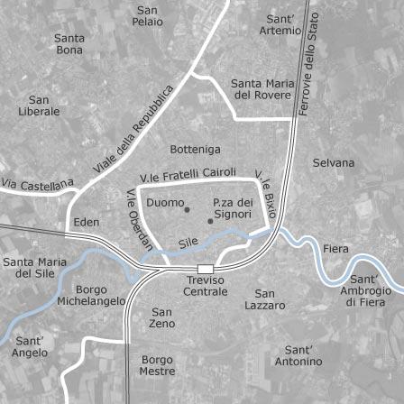 Mappa di treviso comuni con annunci di case in affitto for Appartamenti in affitto treviso non arredati
